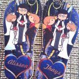 chinelos personalizados para casamento, aniversari
