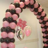 Valentina decora��o com baloes-bexigas