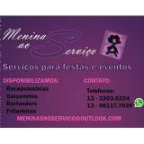 Meninas ao servi�o- Servi�o em Festas e Eventos.