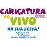 Caricaturas Ao Vivo para Shoppings Rio e Niterói