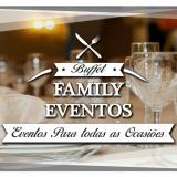 Locação material festa Buffet Family Eventos,
