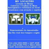 Ms Locações de Mesas e Cadeiras