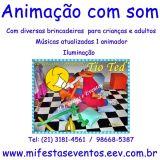Sonorização,Fumaça, Animação infantil, Camarim