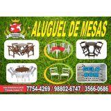 Locação Mesas e Cadeiras Madeira Campo Grande RJ