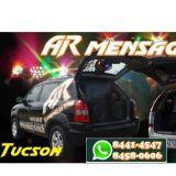 AR mensagens ao vivo 2 carros Tucson e Meriva