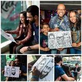 Caricaturas ao vivo Curitiba Noelle Caricaturista