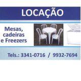 Locações Mesas, Cadeiras e Freezers