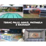 jf Locações - Palco, Tendas, Gradil, Wc, Backdrop