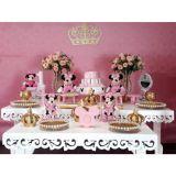 Aluguel de mesa provençal e decoração com balões