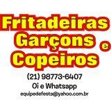 Fritadeiras e equipe para Largo do Machado