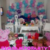 Peppa pig-Mesa provençal decoração festa infantil