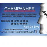 Garçons ,barman e copeiro é na Champanher