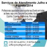SCFF Cerimonial & Eventos - Serviço de Garçom