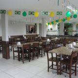 Salão para festas com buffet
