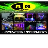 Mm Eventos sonorização iluminação telão e DJ