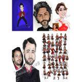 desenho realista e caricatura digital