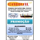 Cabral Locação de Mesas Cadeira Pula Pula em Parau