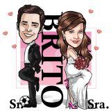 Caricaturas para convites de casamento