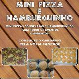 Mini Pizza e Hamburguinho da Rô