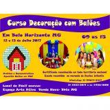 Curso Decoraçãocom Balões12 e 13/07