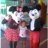 Personagem vivo Mickey e Minie para festa infantil