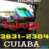 Aluguel de tobogã inflável Cuiabá e vg