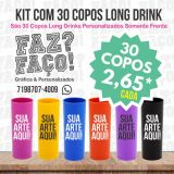 Kit com 30 Copos Long Drink