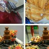 Mesa de Frutas, Cascata de Chocolate, Crepe