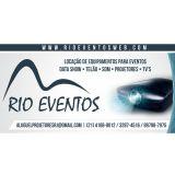 Rio Eventos - Locação de Projetor Telão Data Show