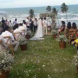 Casamento na praia,decoração,buffet,barmen,banda,b