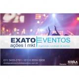Organização e produção de eventos em todo brasil.