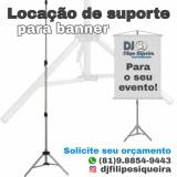 Locação suporte para banner