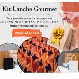 Kit lanche para eventos sociais e corporativos