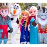 Frozen personagens vivos festa infantil animação