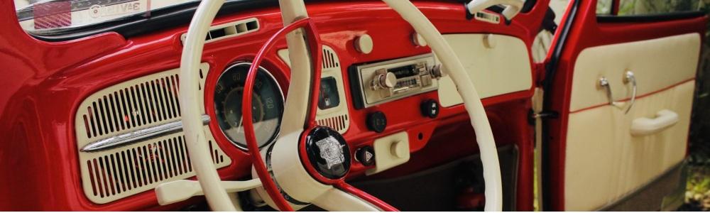Fusca Conversível 75 vermelho