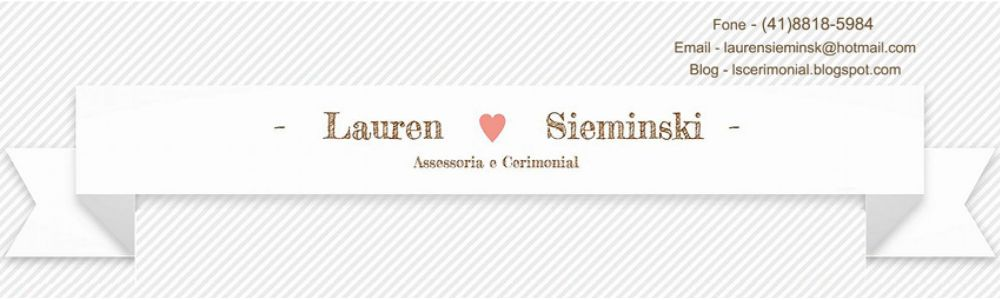 Assessora e Cerimonial Lauren Sieminski