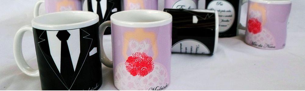 Lembranças, lembrancinhas de casamento/noivado é na ASA presentes canecas personalizadas, copos long