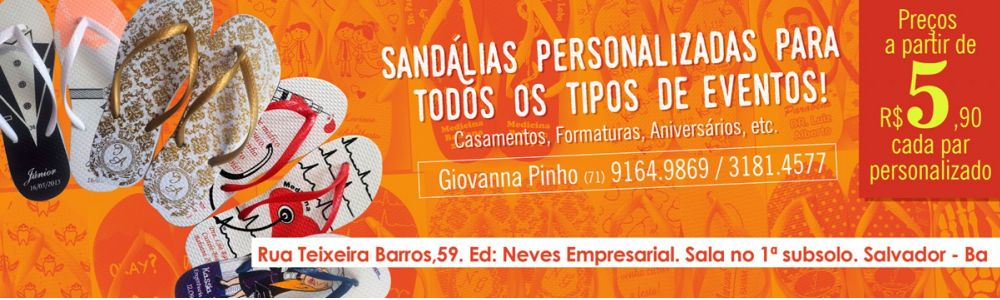 Sandálias Personalizadas Salvador