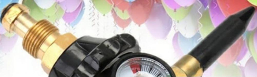 Regulador para inflar balões com gás hélio