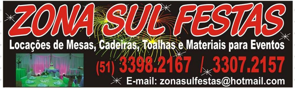 Zona Sul Festas - Locações para o seu evento no Rio Grande do Sul