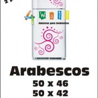 Adesivos para geladeira sjc - Arabescos