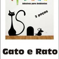 Adesivos para geladeira sjc - Gato e Rato