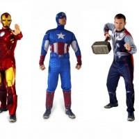 Super Heróis, Capitão America, Hulk,Homem de Ferro, Homem Aranha,  para Locação e recepção em evento