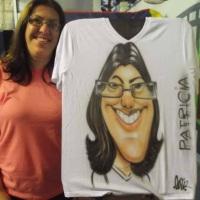 Caricaturas ao vivo em camisetas para festas eventos, casamentos, e aniversários.
