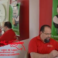 Aniversários com o caricaturista Marcelo Lopes de Lopes