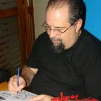 Formatura com caricaturista Marcelo Lopes de Lopes