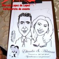 Casamento com o caricaturista Marcelo Lopes de Lopes