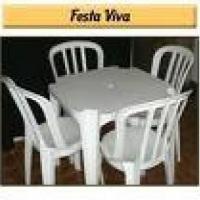 Mesas e cadeiras plstica com 4 lugares, novas e limpas,tel 91419036- 81929003-85617502