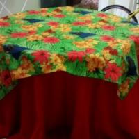 Toalhas para mesas redondas (6 e 8 lugares) e quadradas (4 lugares). Contato: 61 991419036 (Telefon