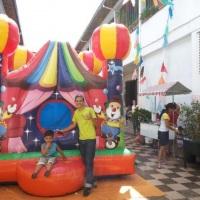 circo inflável de bolinha
